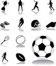 Set icons sport set pictures sportsmen pictographs atheletic stock Royalty Free Stock Photo