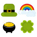 Set of icons for St. Patrick's day Stock Photography