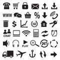 A set of icons stock image Stock Images