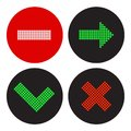A set of icons in the style of a traffic light vector illustration Stock Photos
