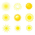 Set icons sun Stock Photography