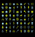 Set of icons or symbols Royalty Free Stock Image