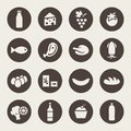 Set of icons on a theme food Royalty Free Stock Photo