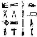 Set icons of tools Royalty Free Stock Photo