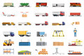 Set of icons transport logistics concept.