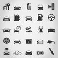 Set of icons transport a vector illustration Royalty Free Stock Photo