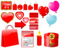 Set of icons for Valentine's day. Royalty Free Stock Images