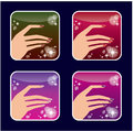 Set of icons of womens manicure vector gradient transparency eps Stock Photos