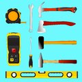 Set of illustration construction tools