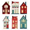 Set of illustrations from old houses Royalty Free Stock Photo