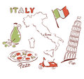 Set of images italy design elements Stock Images