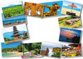 Set from images with views of Bali island Royalty Free Stock Photo