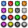 Set of Incoming phone call glossy web buttons. Royalty Free Stock Photo