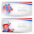 Set of independence day cards vector with place for your text Stock Image