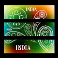 Set of indian headers stylish Stock Photography