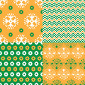 Set of Indian seamless patterns Royalty Free Stock Photo