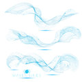 Set individual beautiful blend massive waves abstract background Royalty Free Stock Photo