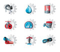 Set of industrial icons Royalty Free Stock Photography