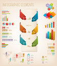 Set of info graphics elements vector illustration Stock Photography