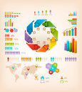 Set of info graphics elements vector illustration Stock Image