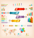 Set of info graphics elements vector illustration Royalty Free Stock Image