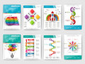 Set of Infographic brochures. Modern infographic vector elements for web, print, magazine, flyer, brochure, media Royalty Free Stock Photo
