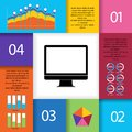 Set of infographic elements icons and information Stock Images