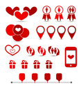 Set infographic elements of valentine presentation illustration Royalty Free Stock Photo