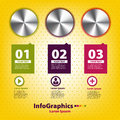 Set infographic with three handles volume Royalty Free Stock Photography