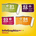 Set infographic with torn ribbons Royalty Free Stock Photography