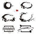 Set of ink design elements. Frames. Royalty Free Stock Photography