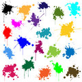 Set of ink in different colors illustration Stock Images