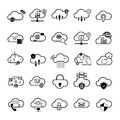 Set with internet cloud icons Royalty Free Stock Photo