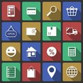 Set of internet shopping icons for search purchase and delivery vector illustration Royalty Free Stock Photography