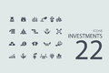 Set of investments icons vector modern simple Stock Photography