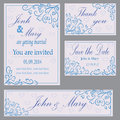 Set of invitation to the wedding Royalty Free Stock Photo