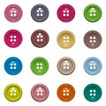 Set of 16 isolated buttons on white background Royalty Free Stock Photo