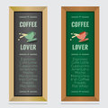 Set Of Isolated Coffee Menu Board