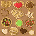 Set of isolated cookies tasty Royalty Free Stock Photography