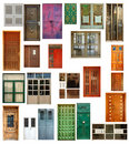 Set of isolated doors Royalty Free Stock Images
