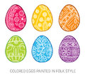 Set of Isolated Happy Easter vector eggs