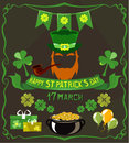 Set of isolated objects on St. Patrick`s Day theme