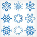 Set of isolated snowflakes for christmas decor this is file eps format Royalty Free Stock Image