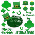 Set of Isolated St Patrick's Day Clip-Art Royalty Free Stock Photography
