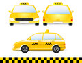 Set of isolated taxi car silhouette Stock Images