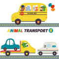 Set of isolated transports with animals part 6