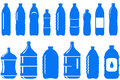 Set of isolated water bottle icon Stock Photo