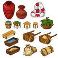 Set items for life in the countryside. Vector