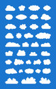 Set of ized clouds this is a serveral Royalty Free Stock Image