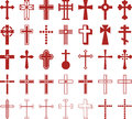 Set of ized crosses this is a serveral Royalty Free Stock Photo